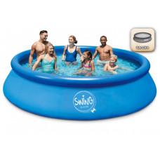 Надуваем басейн SWING QUICK SET (457х107см)